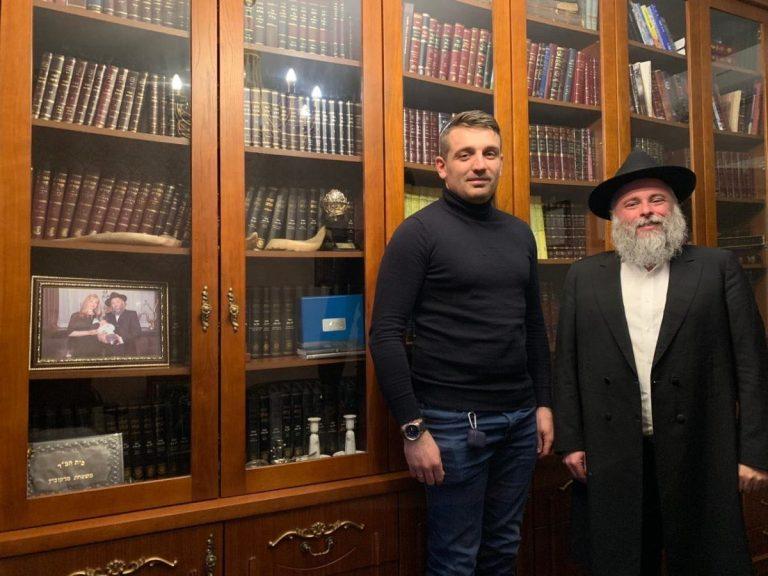 ЙОНАТАН МАРКОВИЧ ТА ОЛЕКСАНДР ХМАРА ПРИВІТАЛИ ВСІХ ІУДЕЙСЬКОЇ ВІРИ ЗІ СВЯТОМ ХАНУКИ